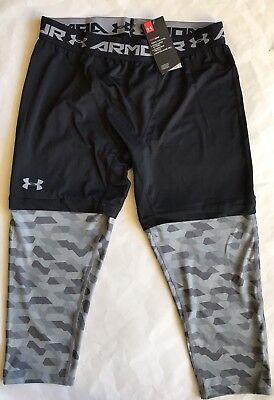 0aee9073cb88c NWT Mens Under Armour XC30 3/4 Compression Basketball Leggings Dastardly XL  1285007