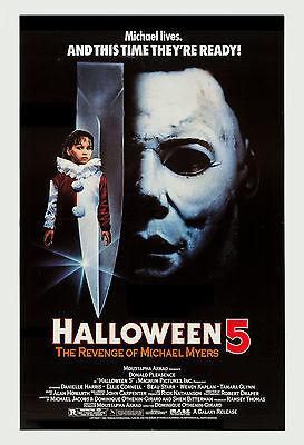 Horror: Michael Myers in * Halloween 5 The Revenge of Michael Myers* Poster 1980 - Halloween The Revenge Of Michael Myers