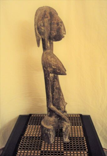 BAMBARA FEMALE African Carving Statue!!