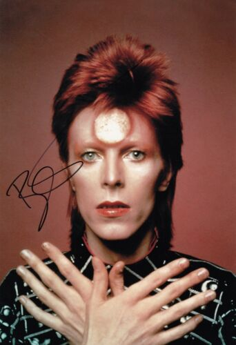 David Bowie w/reproduction signature archival quality,  003