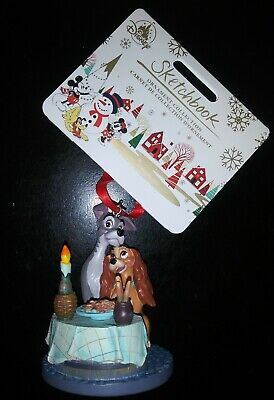 Disney Lady and the Tramp Bella Notte Sketchbook Ornament 2019