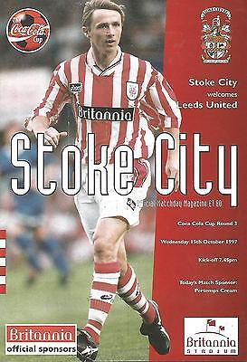 Football Programme - Stoke City v West Ham United - League Cup - 15/10/1997