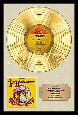 JIMI HENDRIX - GOLD RECORD - POSTER REPRODUCTION - REALLY COOL ARTWORK!!!