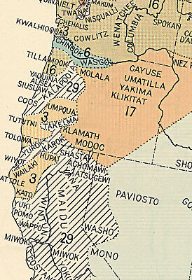 Details about US Map Indian Tribes & Linguistic Stocks Native American 1650  Historical Poster