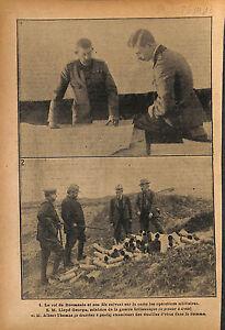 """Lloyd George /Ferdinand Ier Roi de Roumanie & Prince Carol WWI 1916 ILLUSTRATION - France - Commentaires du vendeur : """"OCCASION"""" - France"""