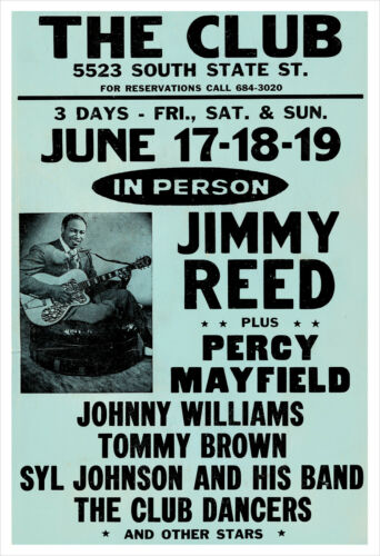 Jimmy Reed concert poster print