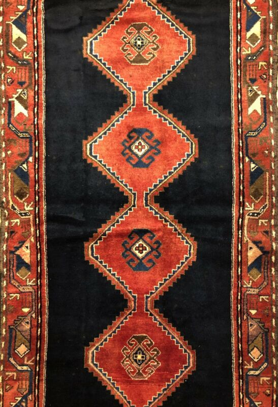 Terrific Tribal - 1960s Vintage Oriental Rug - Nomadic Runner - 3.7 X 10.2 Ft.