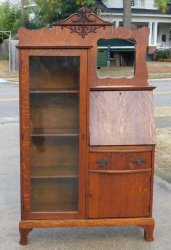 Oak Side by Side Desk Bookcase circa 1900