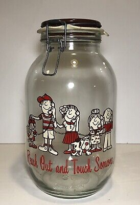 """Vtg Bell Advertising Glass Jar Jug """"Reach Out And Touch Someone"""" (10.75 In) RARE"""