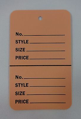 500 Pink Unstrung Coupon Garment Merchandise Price Tags Small