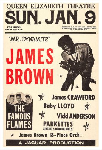 James Brown concert poster print