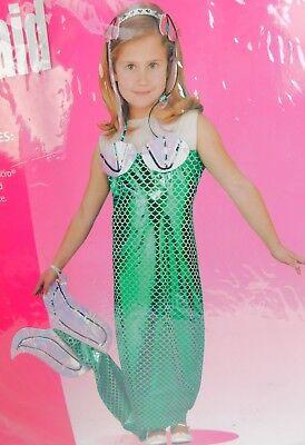 Mermaid Girl's Ariel Halloween Dress-Up Cosplay Costume 7-10 Medium #7518 - Ariel Halloween Costume Teenager