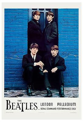 1960's The Beatles *London Palladium* Command Performance Concert Poster 1964