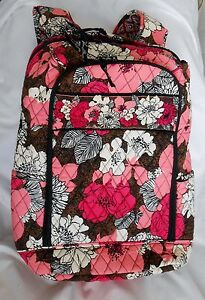 Vera Bradley MOCHA ROUGE Large LAPTOP Backpack NWTS Free Shipping U.S.