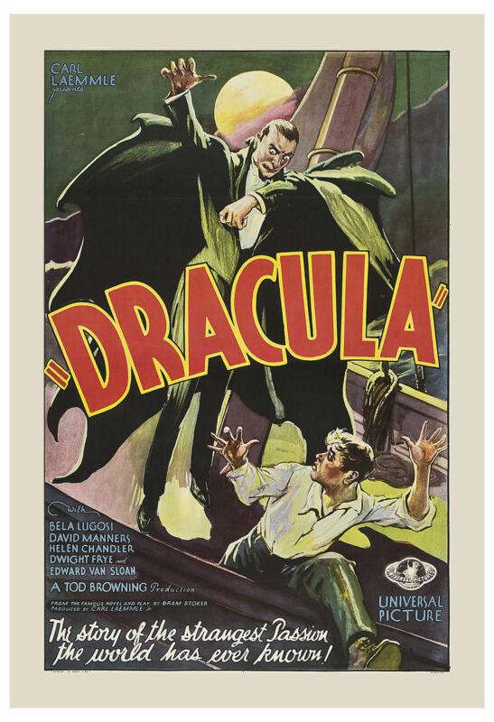 Universal Horror: * Dracula * Bela Lugosi Original Movie Poster 1931 24 x 36