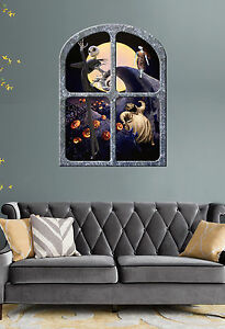 NIGHTMARE BEFORE CHRISTMAS   GIANT WINDOW VIEW PRINTED  POSTER