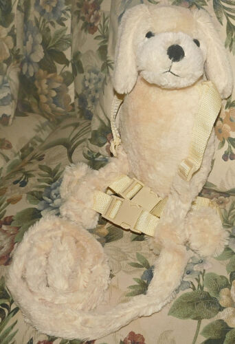 Childs Gold Bug plush safety Harness Puppy Dog Kids Leash 2 in 1 buddy Soft Cute