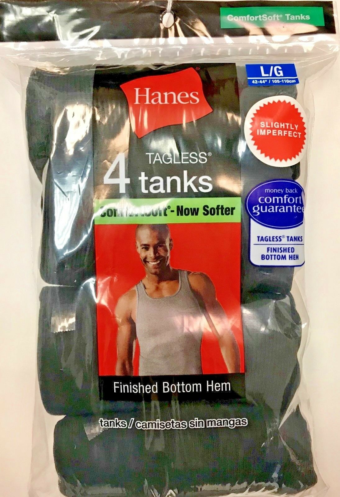 4 pack hanes mens black a shirt choose your size