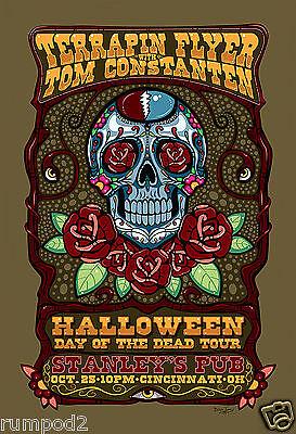 The Grateful Dead Halloween (Music Poster/ Grateful Dead /'Halloween Day of the Dead Tour'/Jerry)