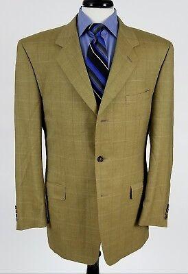 Canali Exclusive Collection 100% Pure Cashmere sport coat blazer tan 54L 44L