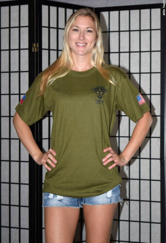 OEF-P Task Force Sulu - US Army Special Forces advisor t shirt - Olive Green - M