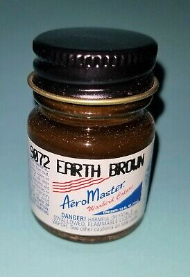 Aeromaster 9072 W.W.II Soviet Air Force Earth Brown enamel paint color 1/2 oz