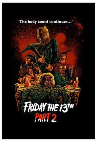 Horror: Friday the 13th  2 Advance Style Movie Poster 1981  13x19