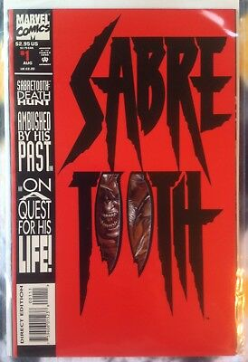 Sabretooth Cover (SABRE TOOTH #1 Death Hunt / die cut cover - Marvel Comics)