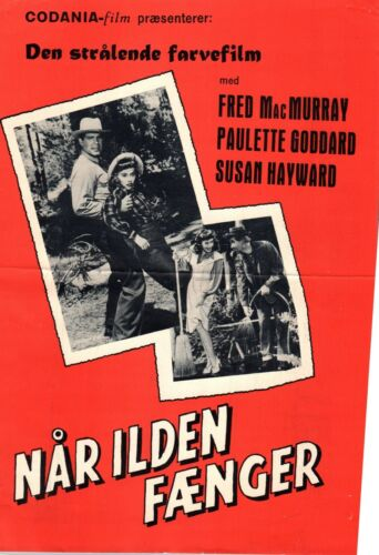 The Forest Rangers Fred MacMurray Paulette G 1942 Vtg Danish Movie Press Release