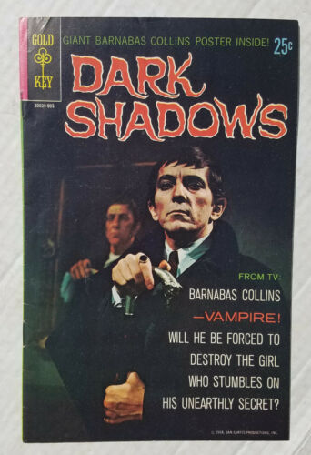 DARK SHADOWS Issue #1 One Comic Book Gold Key Classic TV Series 1968 No Poster