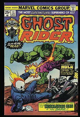 Ghost Rider (1973) #11 VF+ 8.5 Marvel Comics Incredible Hulk!