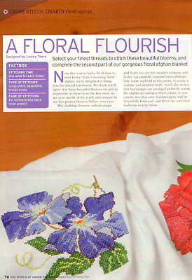 Poppy, Clematis & Iris British XS Magazine Pattern - Lesley Teare - Flowers