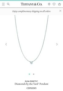 Tiffany & Co. ELSA PERETTI Diamonds by the Yard Pendant