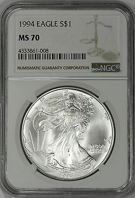 Click now to see the BUY IT NOW Price! 1994 AMERICAN SILVER EAGLE NGC MS70