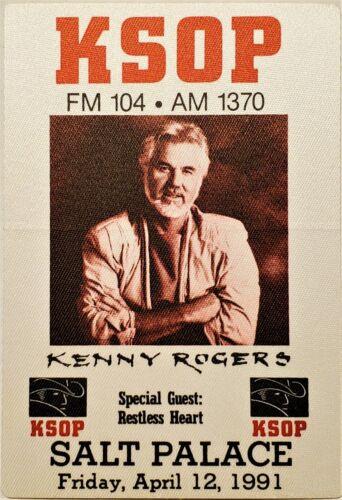 ** KENNY ROGERS ** - 1991 - promo backstage pass style sticker - SALT LAKE CITY
