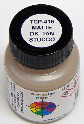 MATTE DK TAN STUCCO TRU-COLOR AIR BRUSH READY PAINT N HO O On30 Model RR TCP4162