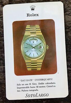 ROLEX DAY-DATE Vintage 1960's Flyer Card Leaflet Brochure 1803 Oysterquartz Gold