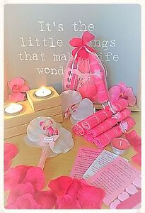 Luxury Girls Pamper Sleepover Spa Kit Pink Filled Party Gift Loot Bags 8 Item