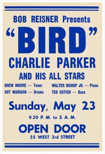 Charlie Parker 1954 concert poster print