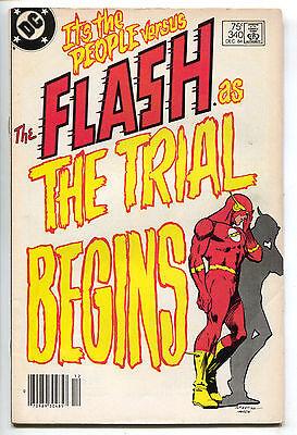 Flash 340 1st Seriesd DC 1984 VG Newsstand Trial Reverse Carmine Infantino
