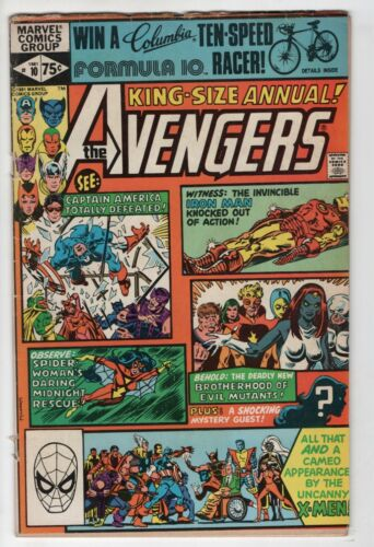 Avengers Annual 10 Marvel 1981 VG 1st Rogue Mystique Iron Man X-Men