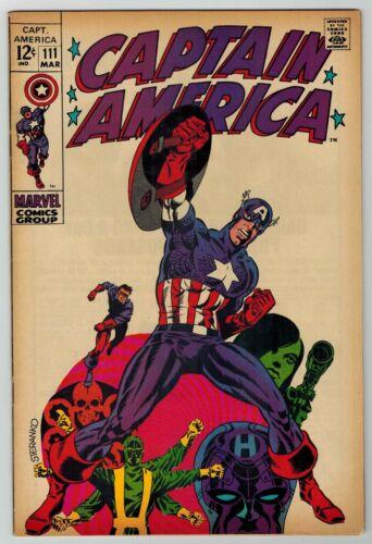 CAPTAIN AMERICA # 111 - CLASSIC STERANKO COVER - NICE BOOK - FN+ 6.5