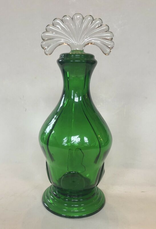 New Martinsville Evergreen Moondrops Small Decanter