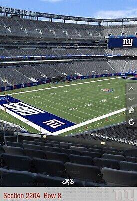 New York Giants PSL's (2) Seats Section 220A