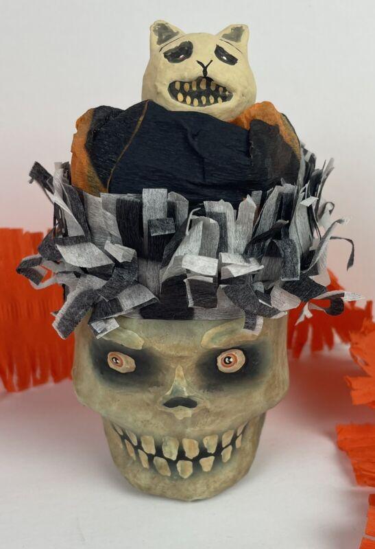 Bethany Lowe Halloween Skull Cat Skeleton Virginia Betourne Retired