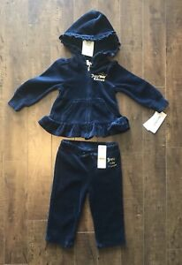 NEW 2-Pc. Girls 12 Mo. Juicy Couture Outfit. Pd. $26.24...$10.00