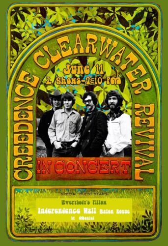 Creedence Clearwater Revival 1969 Concert Poster original*
