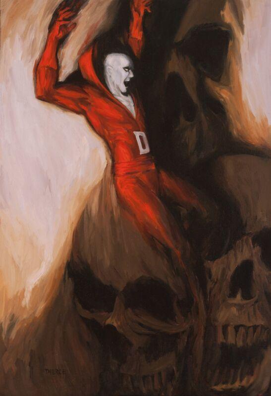 Shane Pierce Original DC Comics / Horror & Skull Art Painting ~ Deadman