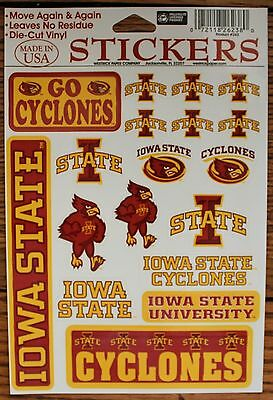 18 Iowa State University Cyclones Decal Stickers Sheet Ncaa College Football
