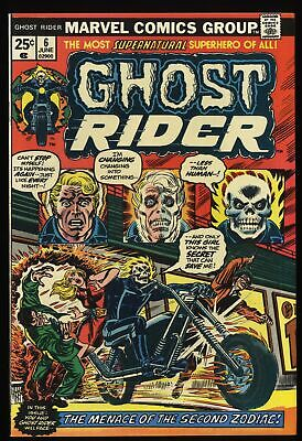 Ghost Rider (1973) #6 VF 8.0 White Pages
